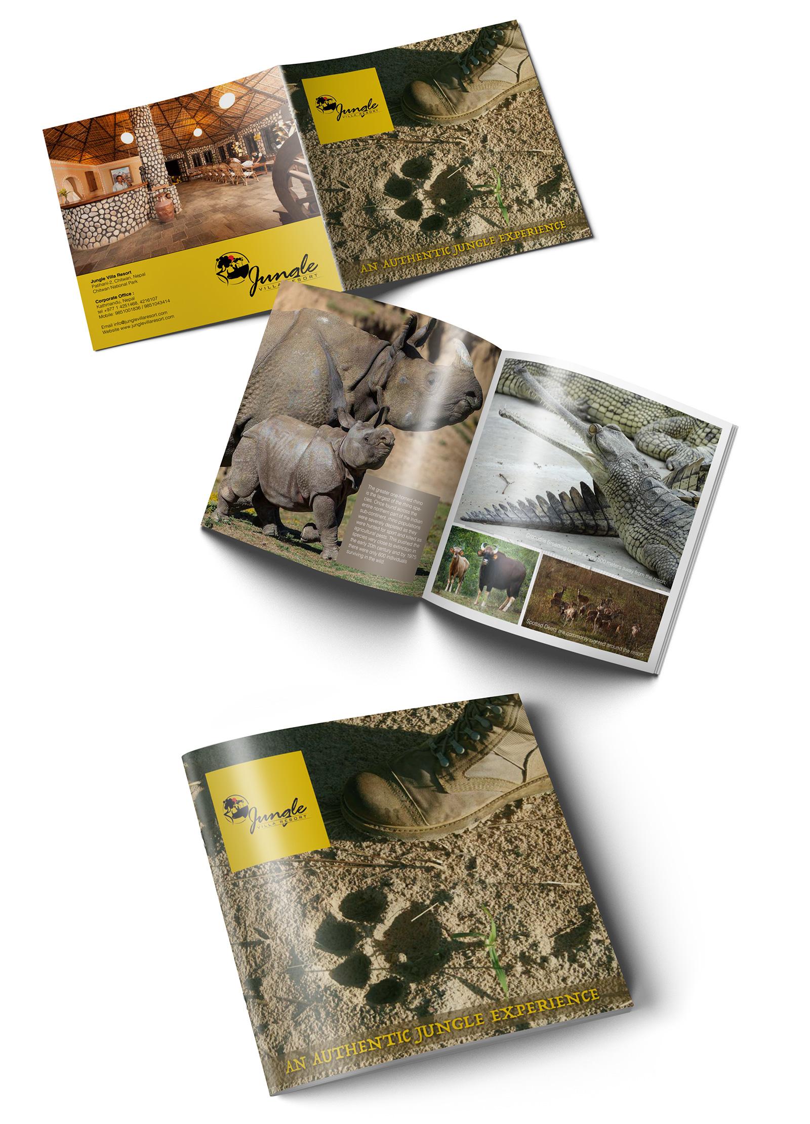 Jungle Villa Resort Square Brochure   Dipankar Kasaju